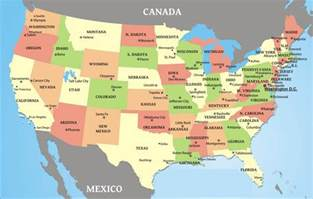 map of america states and cities map usa