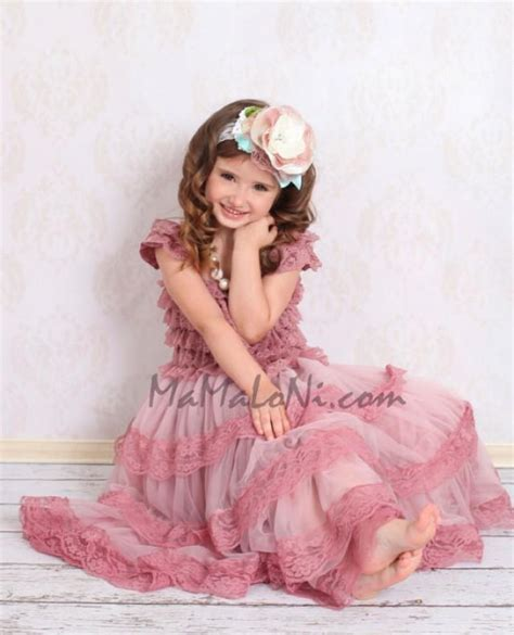 diy 4 quot vintage lace flower frilly hair flowers headbands flower dress vintage pink ruffle lace dress petti