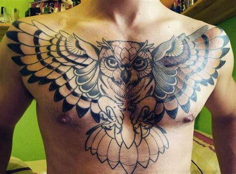owl chest piece tattoo designs 70 owl tattoos for creature of the designs