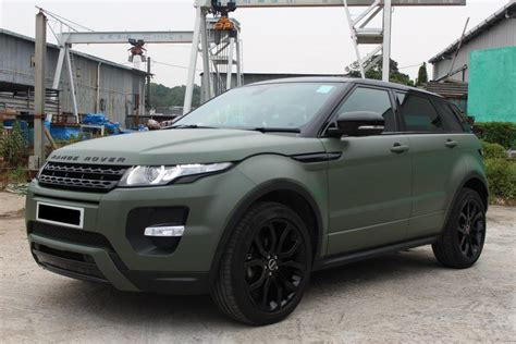wrapped range rover evoque matte army green land rover range rover evoque dreamin