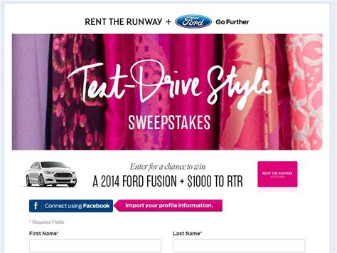 Rent The Runway Gift Card - rent the runway test drive style sweepstakes