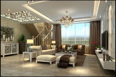 modern living room with fur 3d model max cgtrader