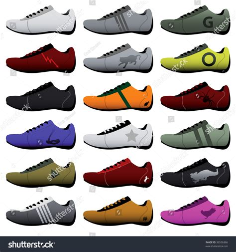 sport shoes vector sport shoes stock vector illustration 36556366