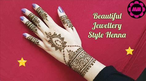 DIY Jewellery Style Henna   Simple Easy Bracelet Mehendi   Latest Henna Designs 2017 for Eid