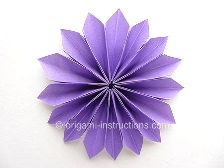 Origami Dahlia - decorate your home with these beautiful origami flowers