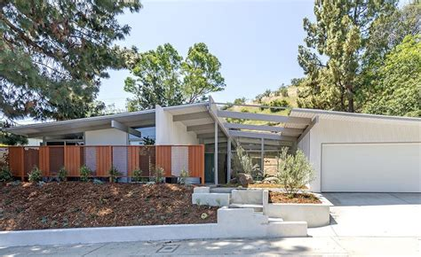 mid century homes striking hollywood hills richard dorman mid century home