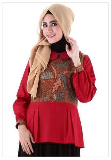 Setelan Elephan Bw Atasan Celana trend model baju batik muslim atasan wanita 2016