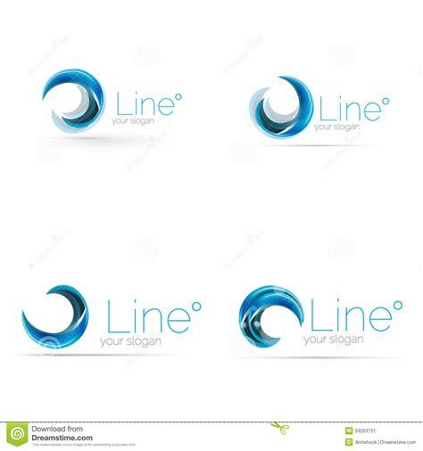 design icon ideas swirl company logo design stock vector illustration of