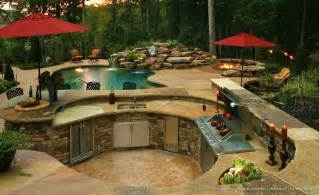pool and outdoor kitchen designs outdoor kitchen rising sun pools and spas