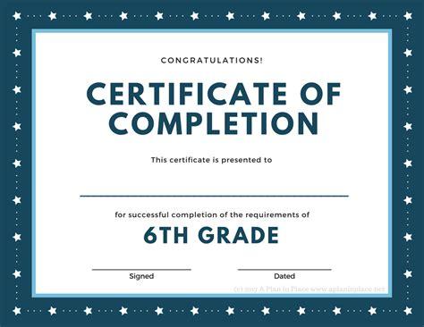 5th grade graduation certificate template sle 5th grade graduation certificate images
