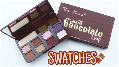 Faced Matte Chocolate Chip Original new faced matte chocolate chip palette swatches