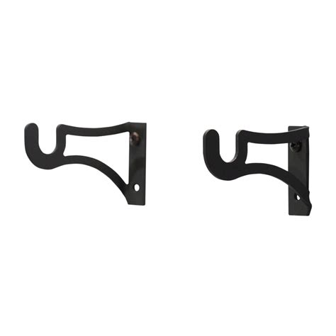 curtain rod brackets 1 inch village wrought iron curtain brackets for 1 2 inch rods
