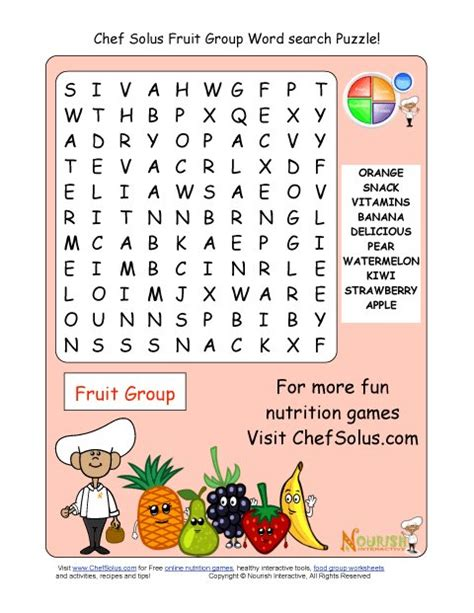 My Fruitless Search For Mr Exactly Right by Printable 10 Word Search Puzzle Fruit