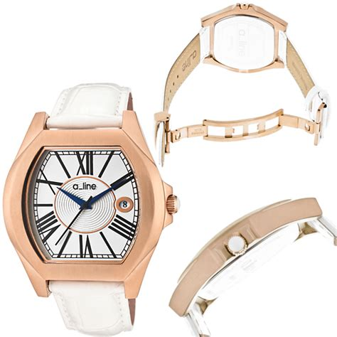 A Line Al 80597 Rg 99 gold men s and women s watches