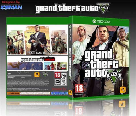 Xbox One Gta V Originall gta v xbox one box cover by iceman423626