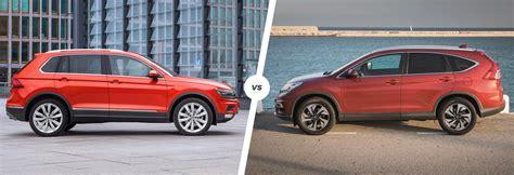 honda vs volkswagen reliability vw tiguan vs honda cr v side by side comparison carwow