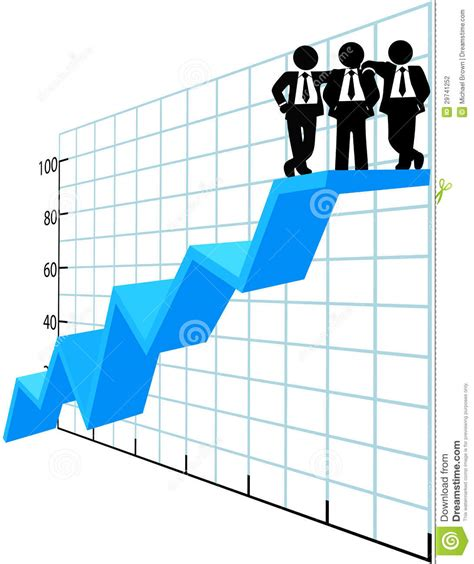 Best Photos Of Sle Business business team top sales chart stock vector image