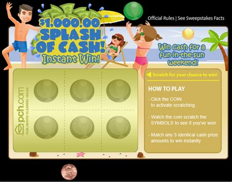 Win Money Instantly - win instant cash with pch scratch cards at the new pch com pch blog