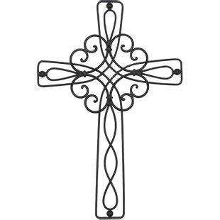 decorative metal wall crosses wayfair