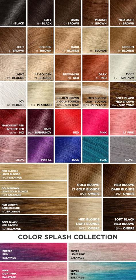 chart of haircolors hairstyle colored hair extensions color hair chart aqua hair extensions