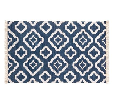 Pottery Barn Kitchen Rugs Recycled Yarn Indoor Outdoor Rug Navy Blue Pottery Barn