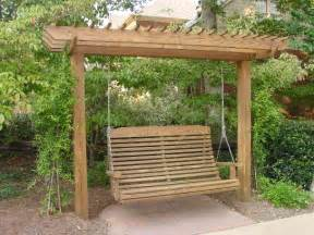Swing Pergola Designs by Would Be So Serene With Wisteria Or Hostas Around It