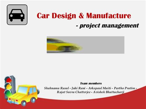 Mba Design Management by Car Design Project Management Mba