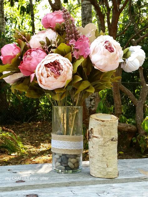 rustic centerpieces for a party or wedding my craftily