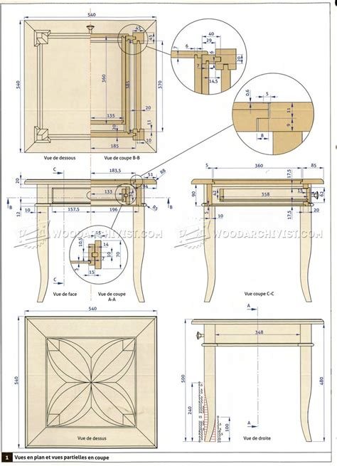 simple side table plans marquetry side table plans woodarchivist