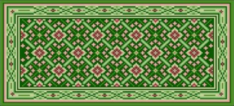 latch hook rug pattern chart celtic green email2u