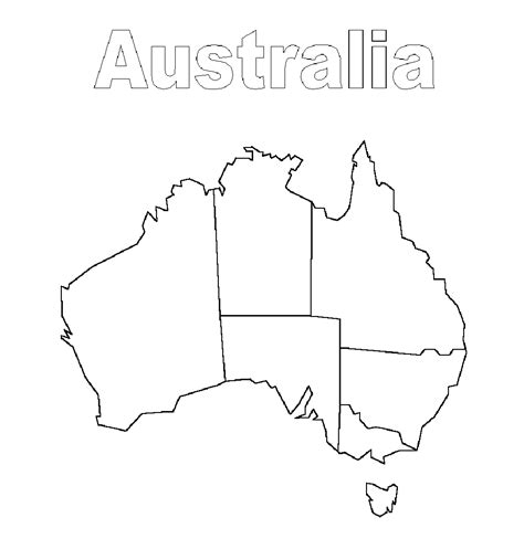 empty map of australia geography standards finding nemo