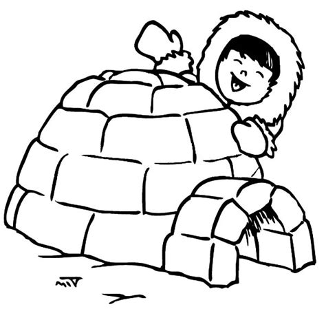 Coloring Page Igloo by Igloo Coloring Page Printable Coloring Image