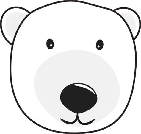 polar bear head clip art polar bear head image