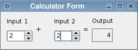 calculator qt calculator form exle qt designer manual