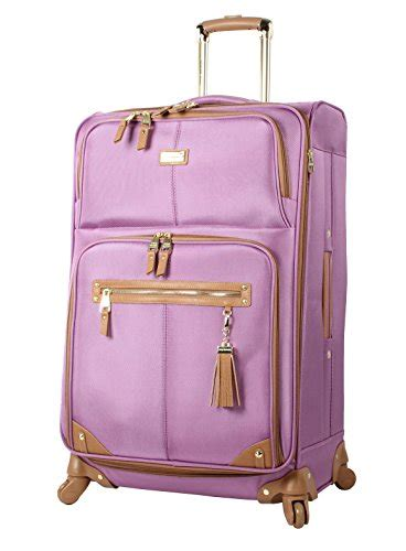 Steve Madden 3 Luggage Set by Steve Madden Luggage 3 Softside Spinner Suitcase Set Collection One Size Harlo Purple