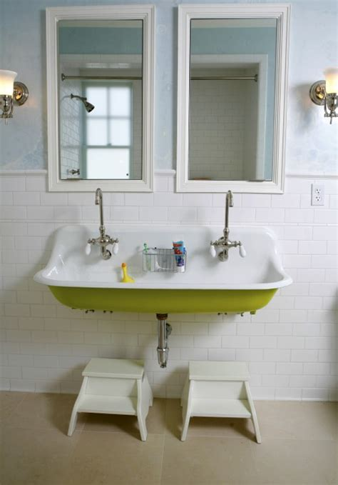 kohler trough sink bathroom kohler brockway cast iron wall mount wash sink design ideas