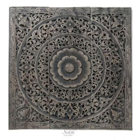 wood carved wall decorated  headboard panel balinese
