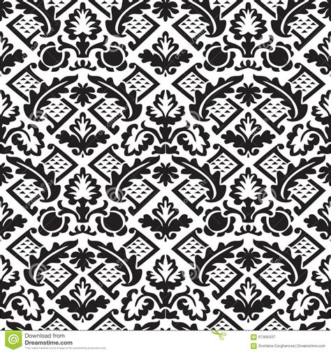 elegant wallpaper pattern black and white vector damask seamless floral pattern black and white
