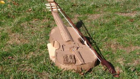 How To Make A Paper Violin - decomposition of a cardboard violin