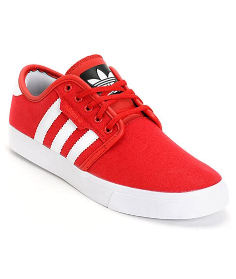adidas red shoes adidas seeley red canvas skate shoes at zumiez pdp