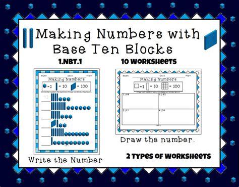 1 Nbt 1 Worksheets by Numbers With Base Ten Blocks 1 Nbt 1 Work