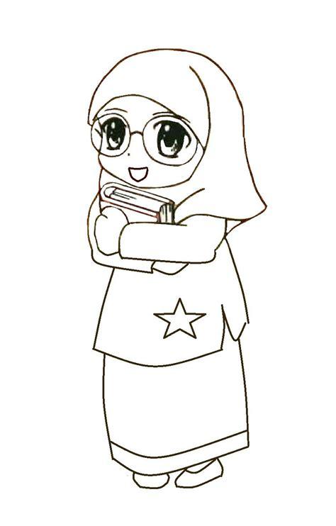 himpunan gambar kartun perempuan cantik hitam putih