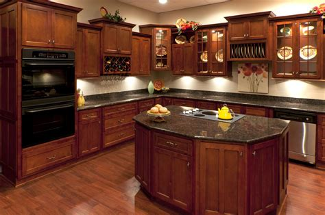 Sample Backsplashes For Kitchens by Elegant Cherry Kitchen Cabinets Homeoofficee Com