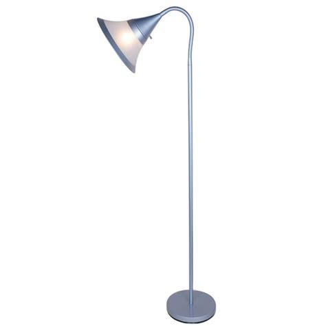 normande lighting 59 5 in silver gooseneck floor l
