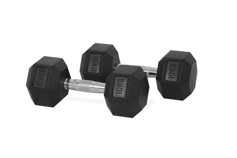 Dumbell 10kg hastings hex dumbbell 10kg set for sale at helisports