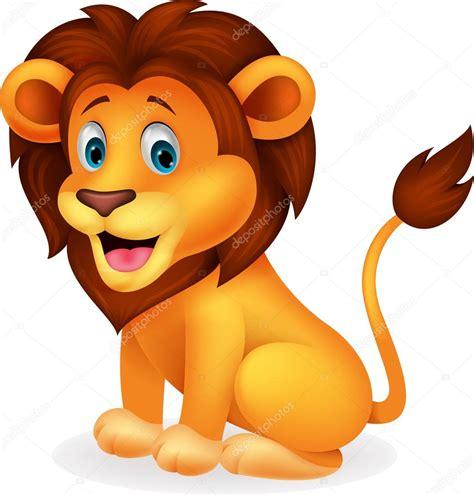 imagenes de leones bebes animados de dibujos animados lindo le 243 n vector de stock