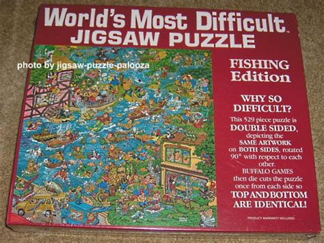 difficult printable jigsaw puzzles sold world s most difficult jigsaw puzzle fishing edition
