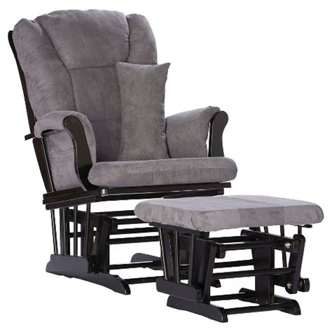 storkcraft glider and ottoman stork craft tuscany black glider and ottoman gray target