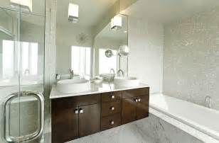 Modern White Tile For Bathroom White Mosaic Tile Bathroom Contemporary With Above Counter