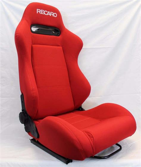 reclinable seats recaro srd sr3 red pair reclinable racing seats cloth